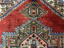 6x9 VINTAGE HERIZ RUG ANTIQUE WORN HAND KNOTTED WOOL oriental handwoven 7x9 7x8