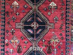 6x9 VINTAGE RUG HAND-KNOTTED wool red oriental handmade kazak caucasian 5x8 6x8