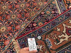 6x9 VINTAGE WOOL RUG HAND-KNOTTED handmade antique oriental CARPET mahi 6x10 7x9