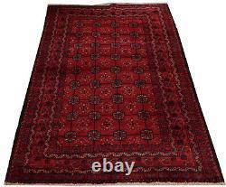 7557 # Vintage Handmade Afghan Tribal Wool Baluchi Caucasian Rug 188 x 114 cm