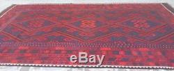 7'10 x 13'5 Handmade vintage afghan tribal maimana wool persian large kilim rug