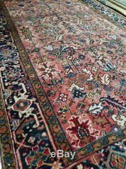 7.1 x 10.8 Vintage Top Quality Persian Heriz Rug Serapi Turkey Antique