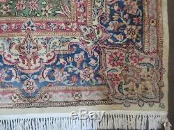 7' X 10' Vintage Persian Kirman Kerman Rug Medallion Hand Knotted Wool Beige Wow