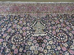 7' X 10' Vintage Turkish Sivas Sevas Kerman Hand Made Wool Rug Veg Dyes Beauty