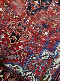7 x 10 or 6.3 x 10.6 Vintage Finest Persian Heriz Rug Serapi Antique
