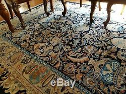 7 x 10 or 6.7 x 9.6 Vintage Fine Persian Rug Kashmar Silk & Wool Top Quality