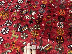 7x10 CAUCASIAN PERSIAN RUG ANTIQUE HAND KNOTTED WOOL FOUNDATION RUGS vintage rug