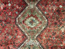 7x10 CAUCASIAN PERSIAN RUG ANTIQUE HAND KNOTTED WOOL RUGS vintage geometric 7x9