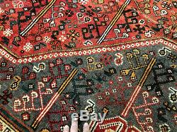 7x10 CAUCASIAN PERSIAN RUG ANTIQUE HAND KNOTTED WOOL vintage oriental carpet 6x9