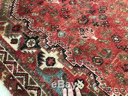 7x10 VINTAGE WOOL PERSIAN RUG HAND KNOTTED CAUCASIAN ANTIQUE oriental geometric