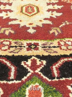8'0 x 8'0 Vintage Hand-Knotted Traditional Oriental Wool Area Rug