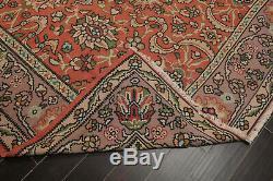 8'7 x 10'1 Vintage Hand Woven Kilim 100% Wool Persian Oriental Area Rug
