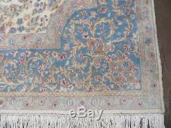 8' X 10' Vintage Persian Kirman Kerman Rug Medallion Hand Knotted Wool Beige Wow