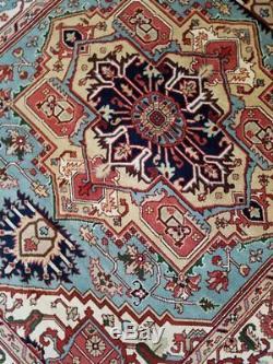 8 x 10 Vintage Design Top Quality Indo Persian Heriz Rug Serapi