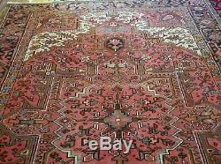 8 x 11 or 7.9 x 10.5 Vintage Top Quality Persian Heriz Rug Serapi Antique