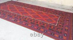 8 x 16 Handmade Vintage Afghan Tribal Maimana Wool Extra Large Persian Kilim Rug