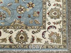 8x10 BLUE HANDMADE WOOL RUG HAND-KNOTTED oriental carpet light sky aqua turkish