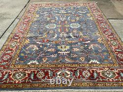 8x10 BLUE WOOL RUG HANDMADE oriental hand-woven HAND-KNOTTED new rugs big carpet