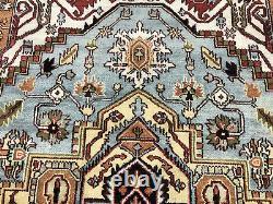 8x10 LIGHT BLUE WOOL RUG HANDMADE HAND-KNOTTED MUTED oriental handwoven carpet