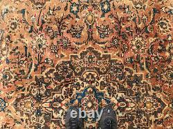 8x10 VINTAGE HANDMADE RUG HAND-KNOTTED wool worn muted antique oriental carpet