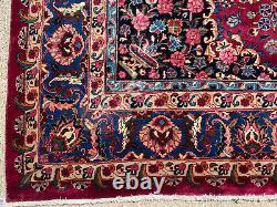 8x11 ANTIQUE RUG ORIENTAL HAND-KNOTTED WOOL HANDMADE vintage worn old big carpet