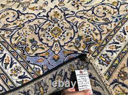 8x11 ANTIQUE WOOL RUG HAND-KNOTTED VINTAGE handmade oriental muted neutral 8x12