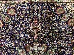 8x11 BLUE VINTAGE RUG WOOL HAND KNOTTED handmade antique oriental indigo navy