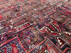 8x11 VINTAGE WOOL RUG ANTIQUE HAND-KNOTTED oriental handmade tribal carpet 8x10
