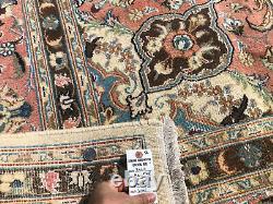 8x12 ANTIQUE WOOL RUG HAND-KNOTTED PINK VINTAGE oriental handmade mute 8x11 9x12