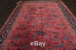 9'2 x 13'2 Vintage Hand Knotted Wool Persian Oriental Area Rug Traditional