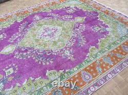9'7 x 12'5 Hand Knotted Overdyed Purple Persian Vintage Oriental Rug G7072