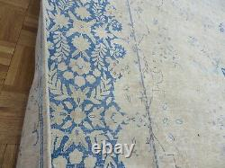 9'9 x 13'2 Hand Knotted Overdyed White Wash Persian Vintage Oriental Rug G7232