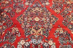 9'x13' Circa 1930's handmade Persian Sarouk authentic Vintage Oriental rug
