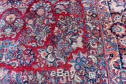 9'x 12' Circa 1920's Vintage Sarouk Rug Handmade Hand knotted Estate Carpet