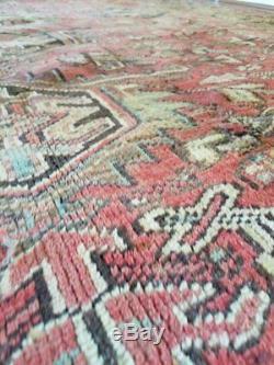 9 x 12 or 8.5 x 11.7 Antique Quality Persian Heriz Rug Serapi Vintage Persian Ru