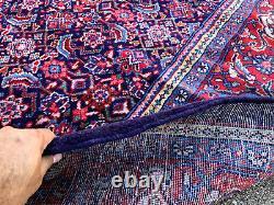 9x12 BLUE VINTAGE RUG HAND-KNOTTED INDIGO PURPLE ANTIQUE oriental HANDMADE 10x13