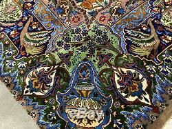 9x12 FINE ANTIQUE RUG HAND KNOTTED WOOL VINTAGE HANDMADE ORIENTAL CARPET 10x13