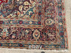 9x12 HANDMADE ANTIQUE WOOL RUG HAND-KNOTTED old ORIENTAL vintage red 10x13 10x12