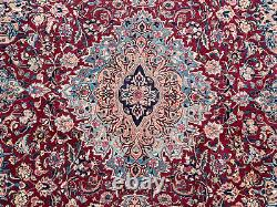 9x12 RED ANTIQUE WOOL RUG HAND-KNOTTED ORIENTAL handmade handwoven VINTAGE 10x13