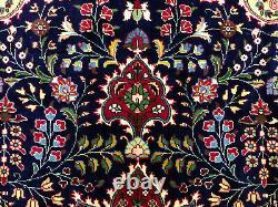 9x12 VINTAGE BLUE RUG WOOL HAND KNOTTED HANDMADE handwoven oriental navy carpet