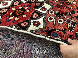 ANTIQUE HANDMADE RUG WOOL 5x6 HAND-KNOTTED VINTAGE oriental tribal 4x6 5x7 4x7