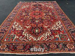 ANTIQUE HAND WOVEN AMERICAN SERAPI RUG 9x12FT FROM CIRCA1900