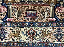 ANTIQUE ORIENTAL RUG HAND KNOTTED WOOL VINTAGE 10x13 oriental HANDMADE CARPET