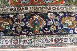 ANTIQUE PERSIAN CARPET, HANDMADE ORANGE AND BLUE WOOL CARPET 400 x 300 CM