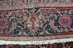 ANTIQUE PERSIAN HERIZ CARPET WITH TRADITIONAL DESIGN GREAT CONDITION 11 x 8 FT