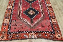 ANTIQUE PERSIAN SHIRAZ QASHQAI RUG 265 x 145 cm PERSIAN HANDMADE RUGS CARPETS