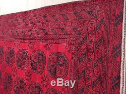 Afghan Rug, 210 X 293 cm Turkomen rug, authentic rug persian rug vintage rug#833