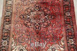 Alluring Geometric Handmade Vintage 7x10 Wool Heriz Oriental Area Rug