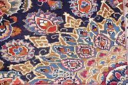 Alluring Handmade Vintage Floral 10x13 Wool Kashmar Persian Oriental Area Rug