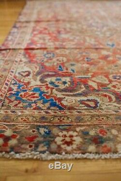 Antique Distressed Rug, Vintage Rug, Hand Knotted Persian, Wool Area Rug, Red Pi